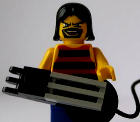 Lego man with guitar